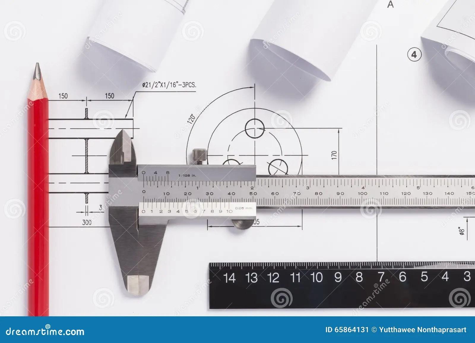 hight resolution of engineering drawings metal detail and vernier caliper