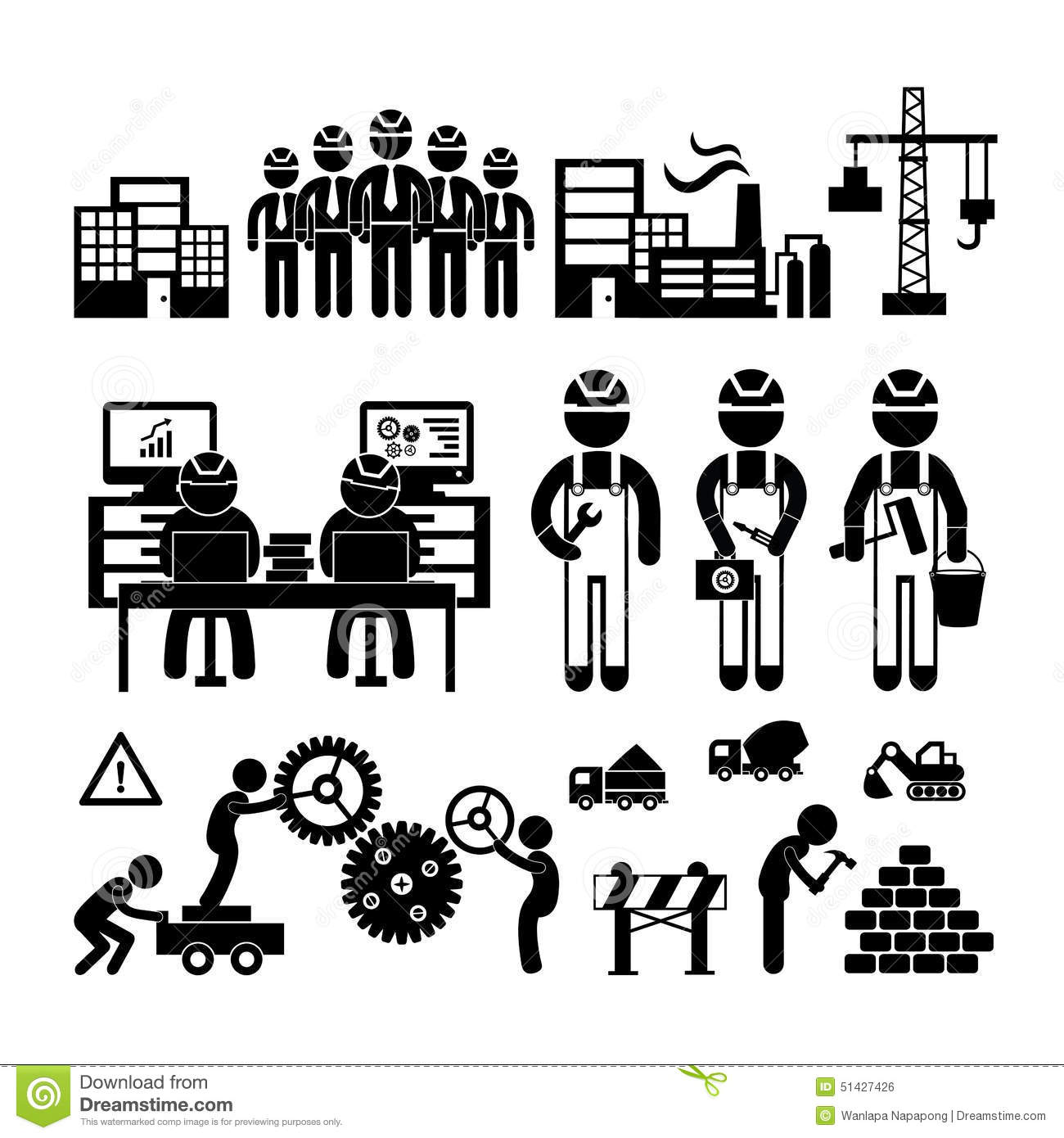 Engineering Icon Stock Vector Image Of Graphic Operator