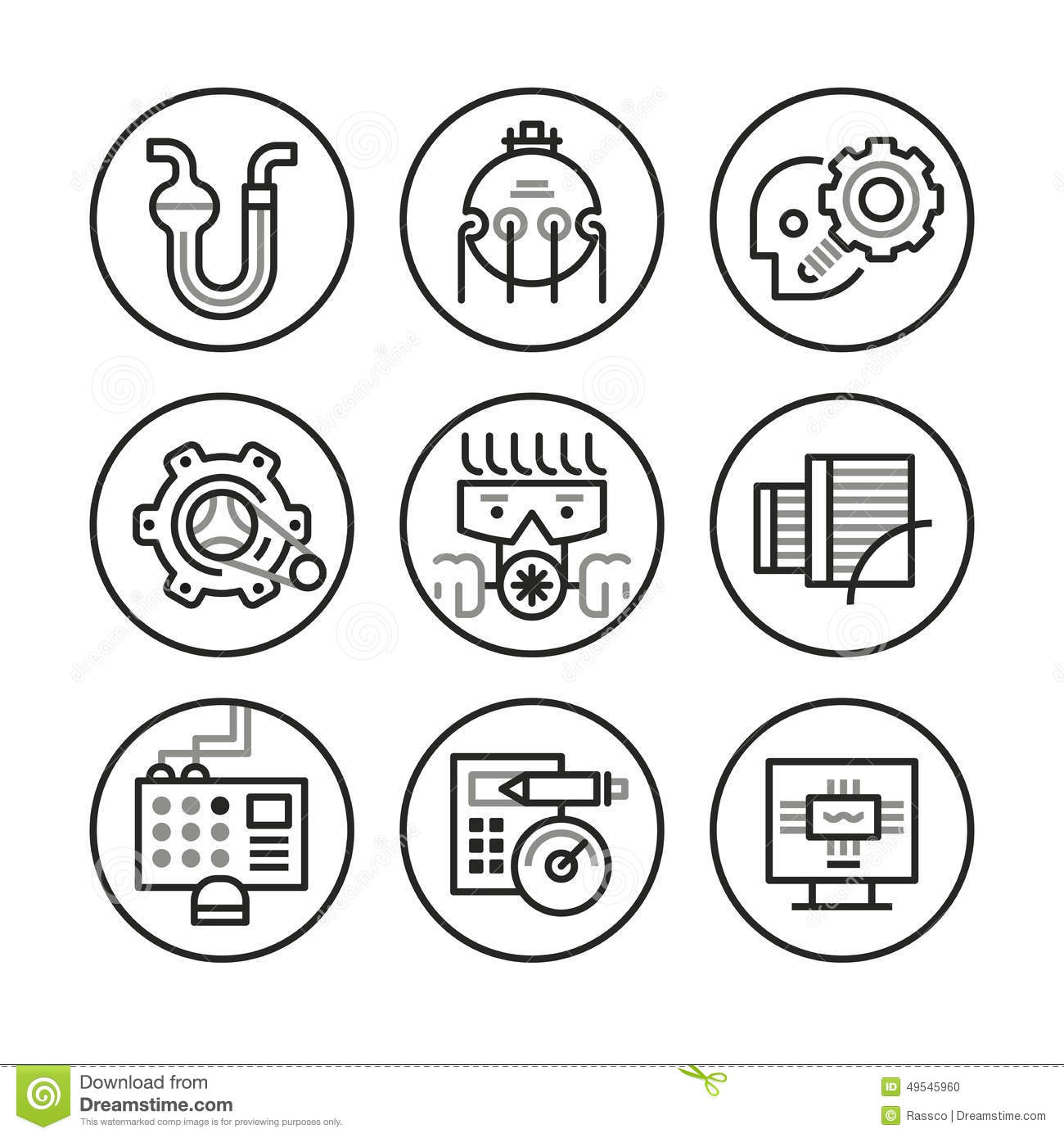 Engineering Icons Stock Vector
