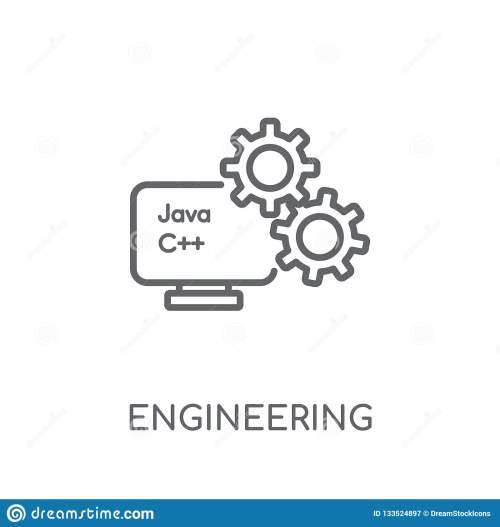 small resolution of engineering linear icon modern outline engineering logo concept