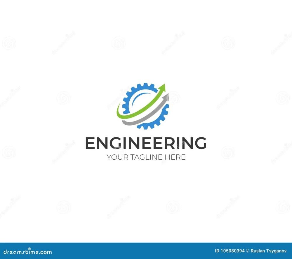 medium resolution of engineering logo template gear vector design