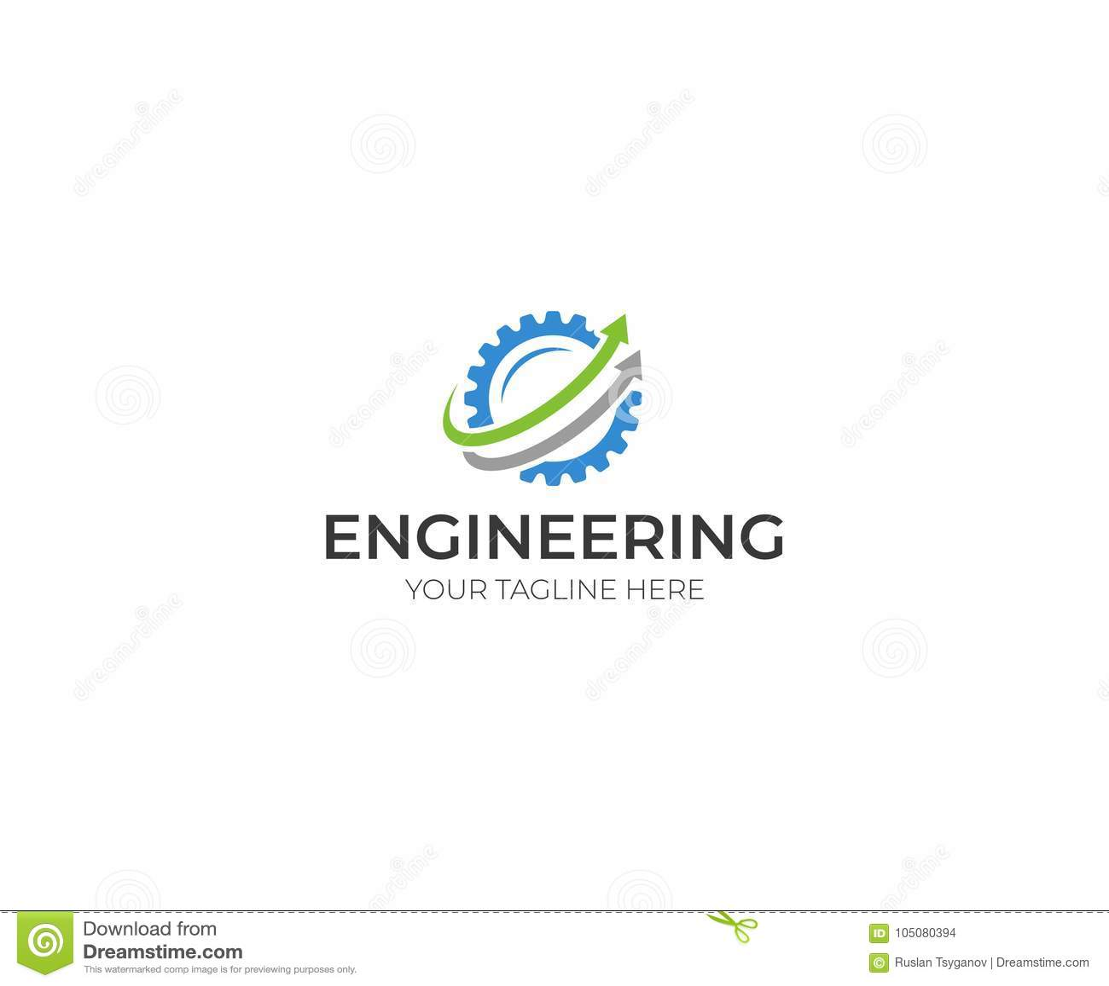 hight resolution of engineering logo template gear vector design