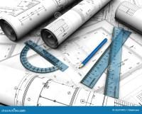 Engineering plan stock illustration. Illustration of ...
