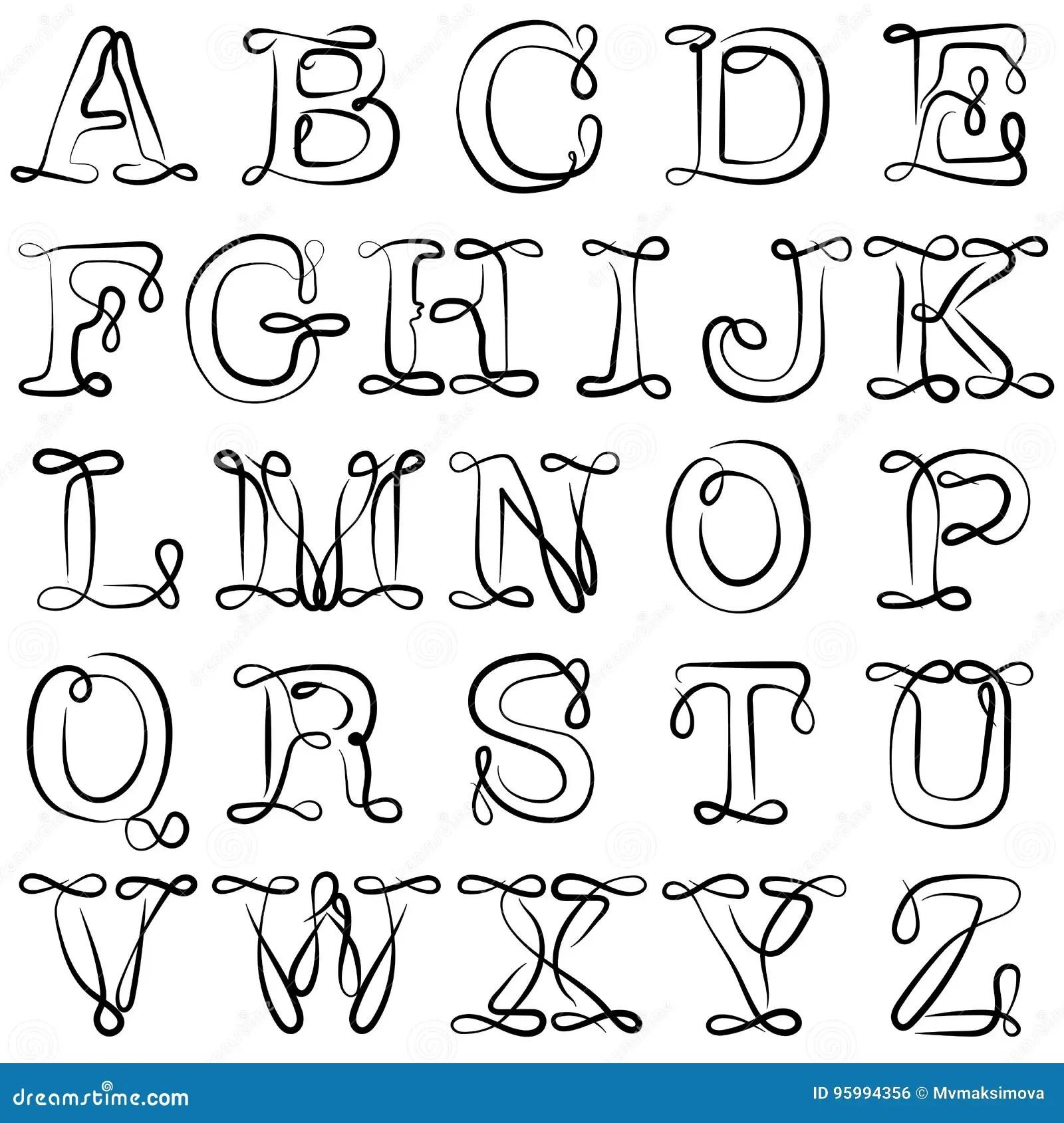 English Alphabet. ABC. English Letters Are Black On White