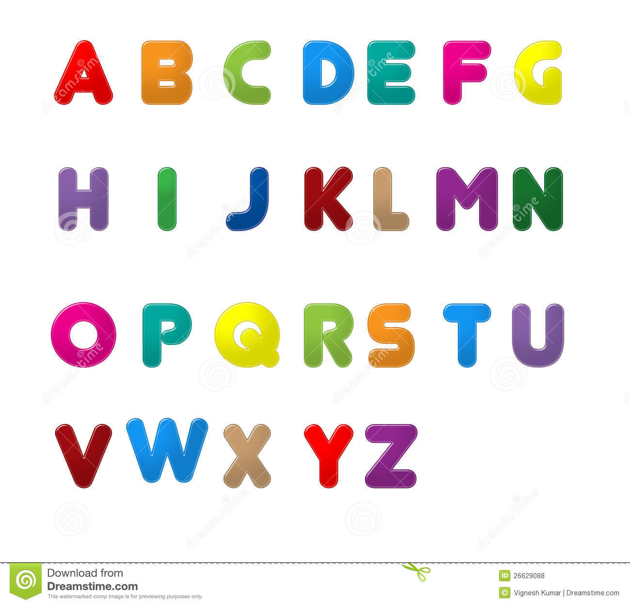 Writing Alphabet Letters In English