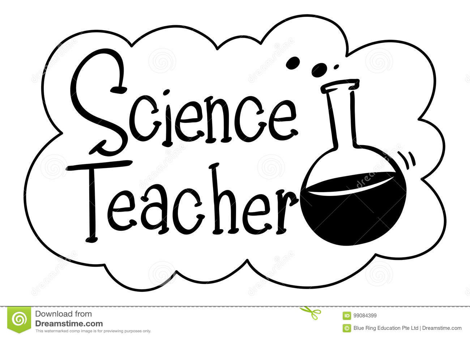 English Phrase For Science Teacher Stock Vector