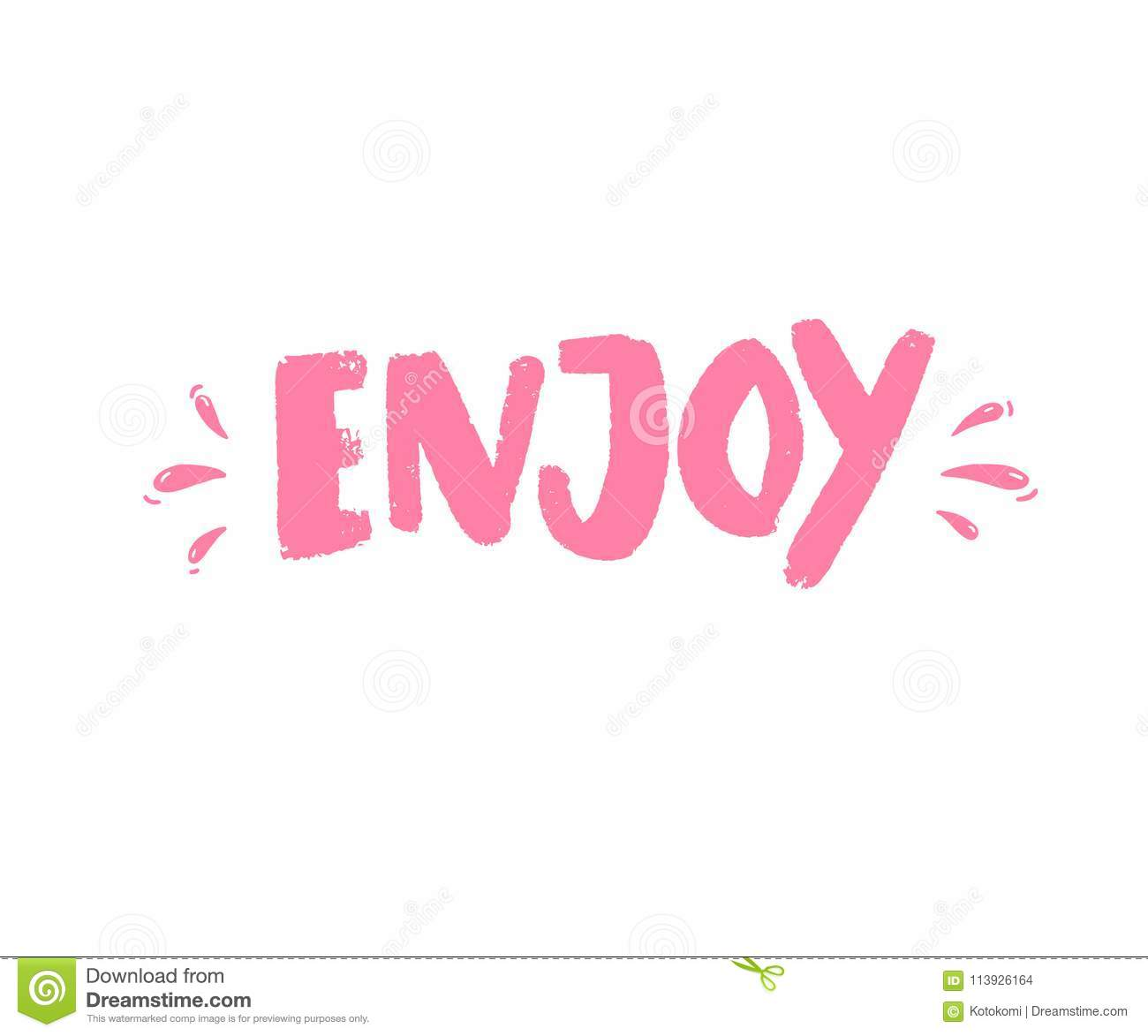 enjoy handwritten word brush