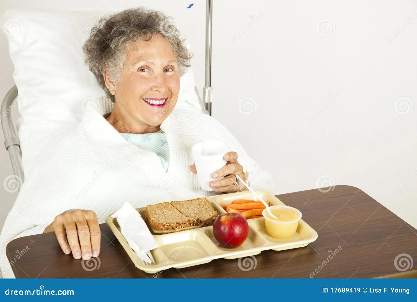 Enjoying Hospital Food Royalty Free Stock Images