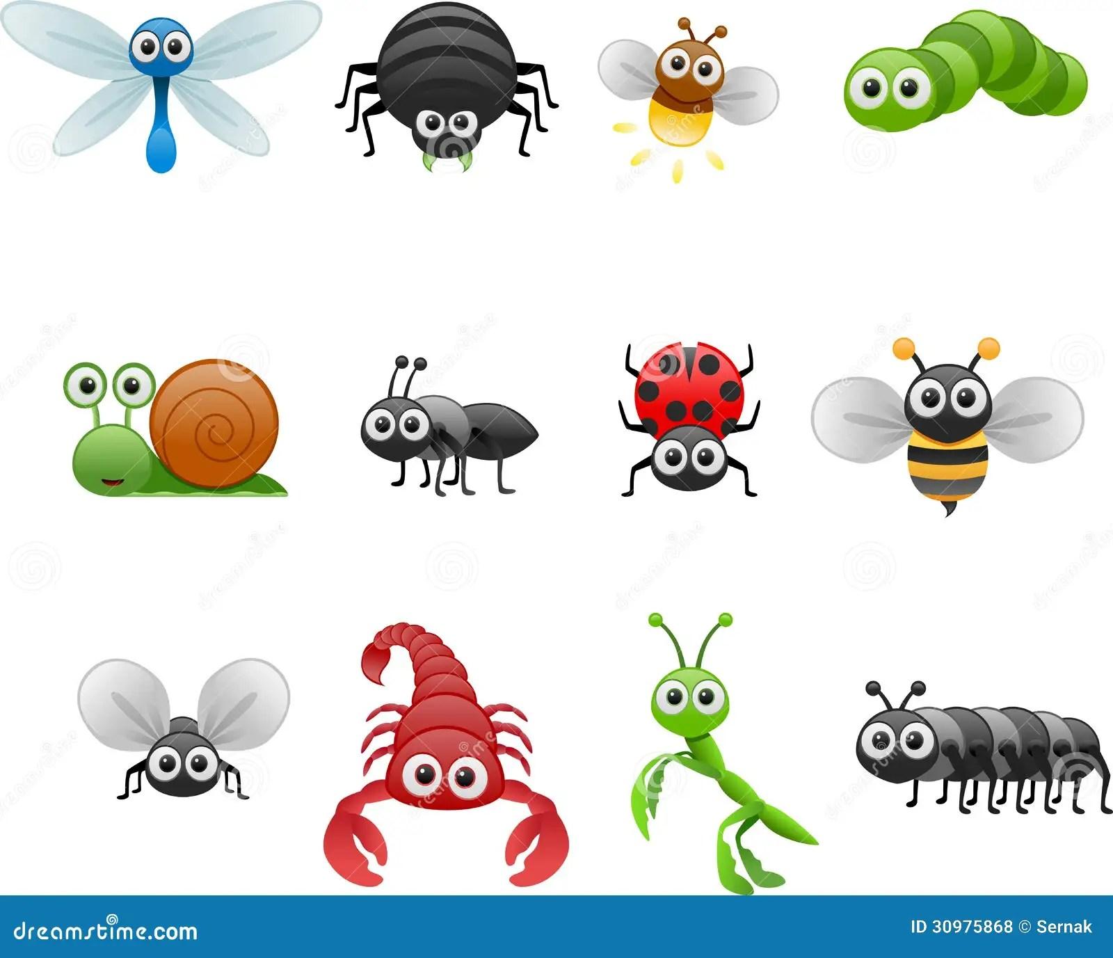 Ensemble D Insecte De Bande Dessinee Illustration De