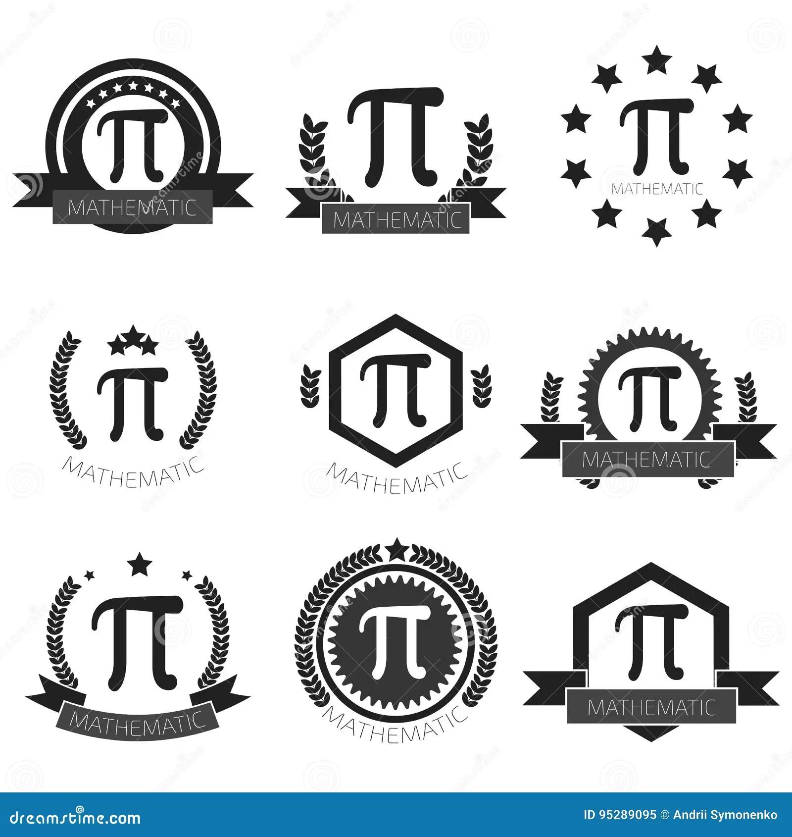 Ensemble Mathématique De Logo De Pi Icônes Mathématiques