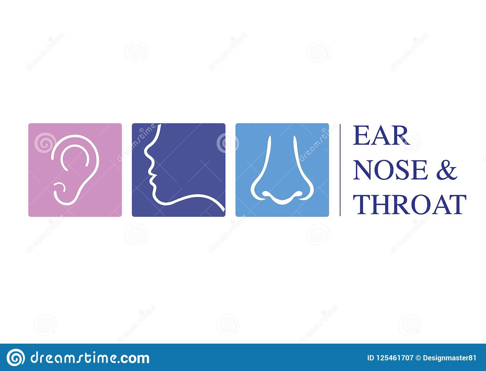 ear nose and throat diagram honda odyssey sliding door parts ent logo template head for doctor specialists with concept line vector icon editable stroke flat linear illustration isolated on