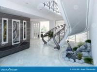 Entrance Hall Decorating Ideas, 3d Render Stock ...