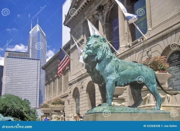 Chicago Art Institute Entrance April 2015 Editorial #53857751
