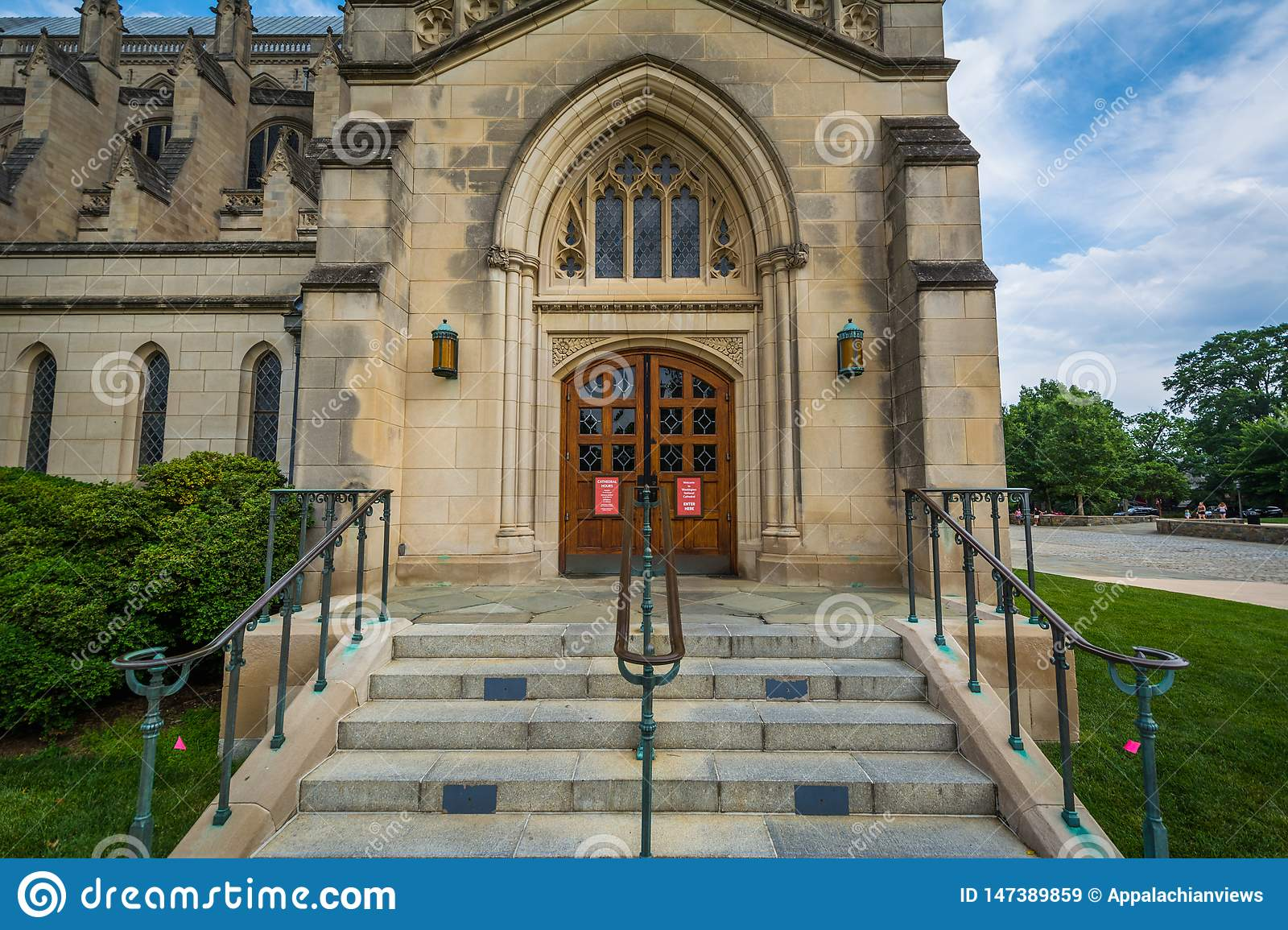 Entrance To The Washington National Cathedral In