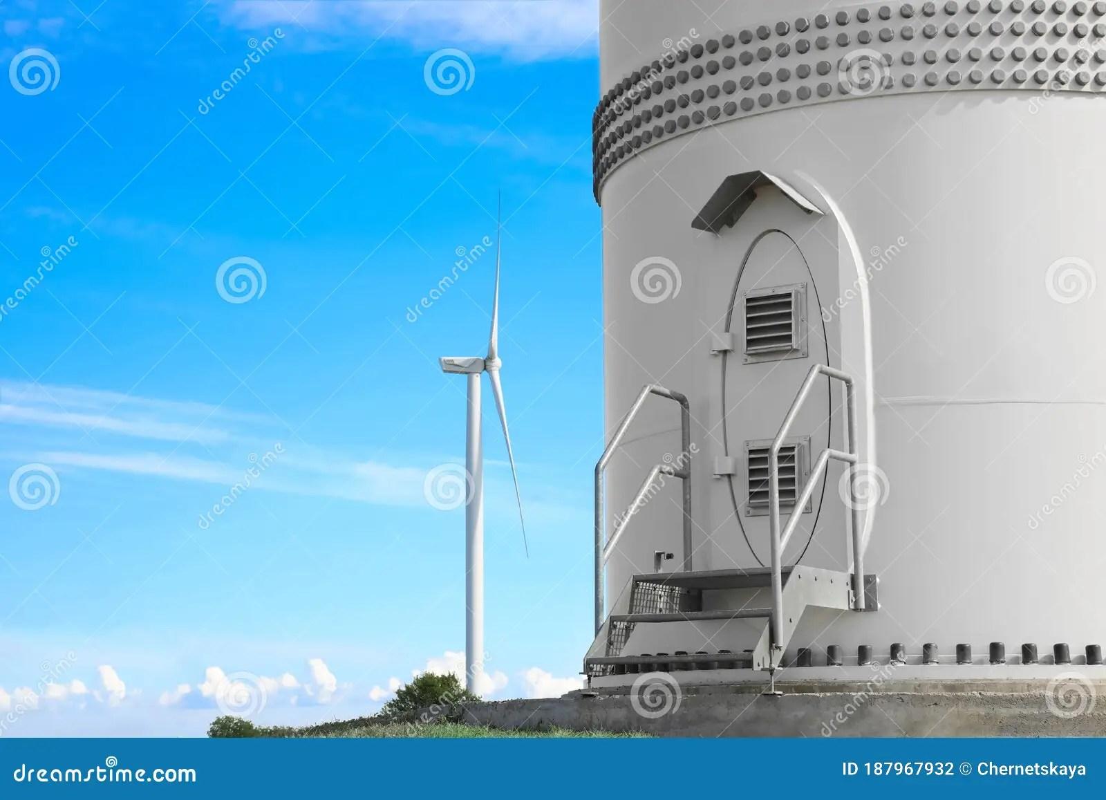 Entrance To Wind Turbine Power Generator Alternative