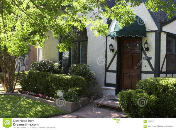 Entryway Tudor Style House Stock - Of