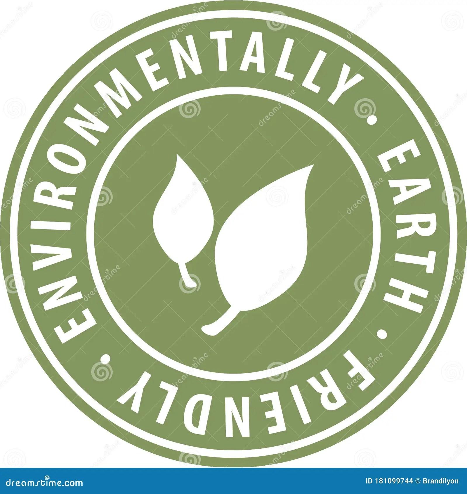 Environmental Earth Friendly Round Green Icon Symbol Badge