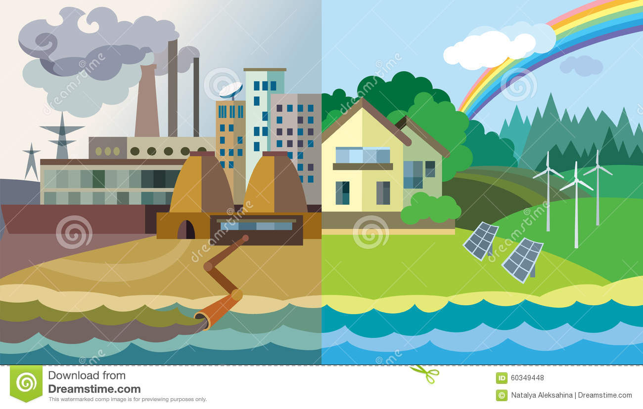 Environmental Pollution And Environment Protection Stock