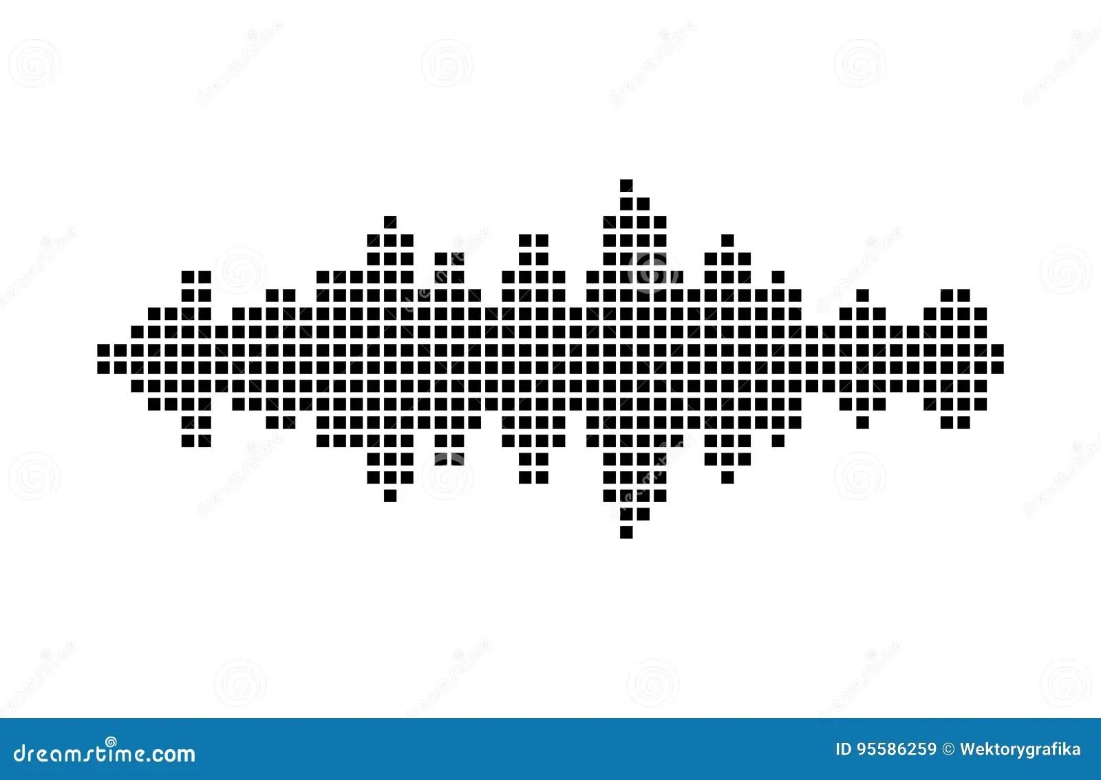 Equalizer Music Sound Wave Vector Symbol Icon Design