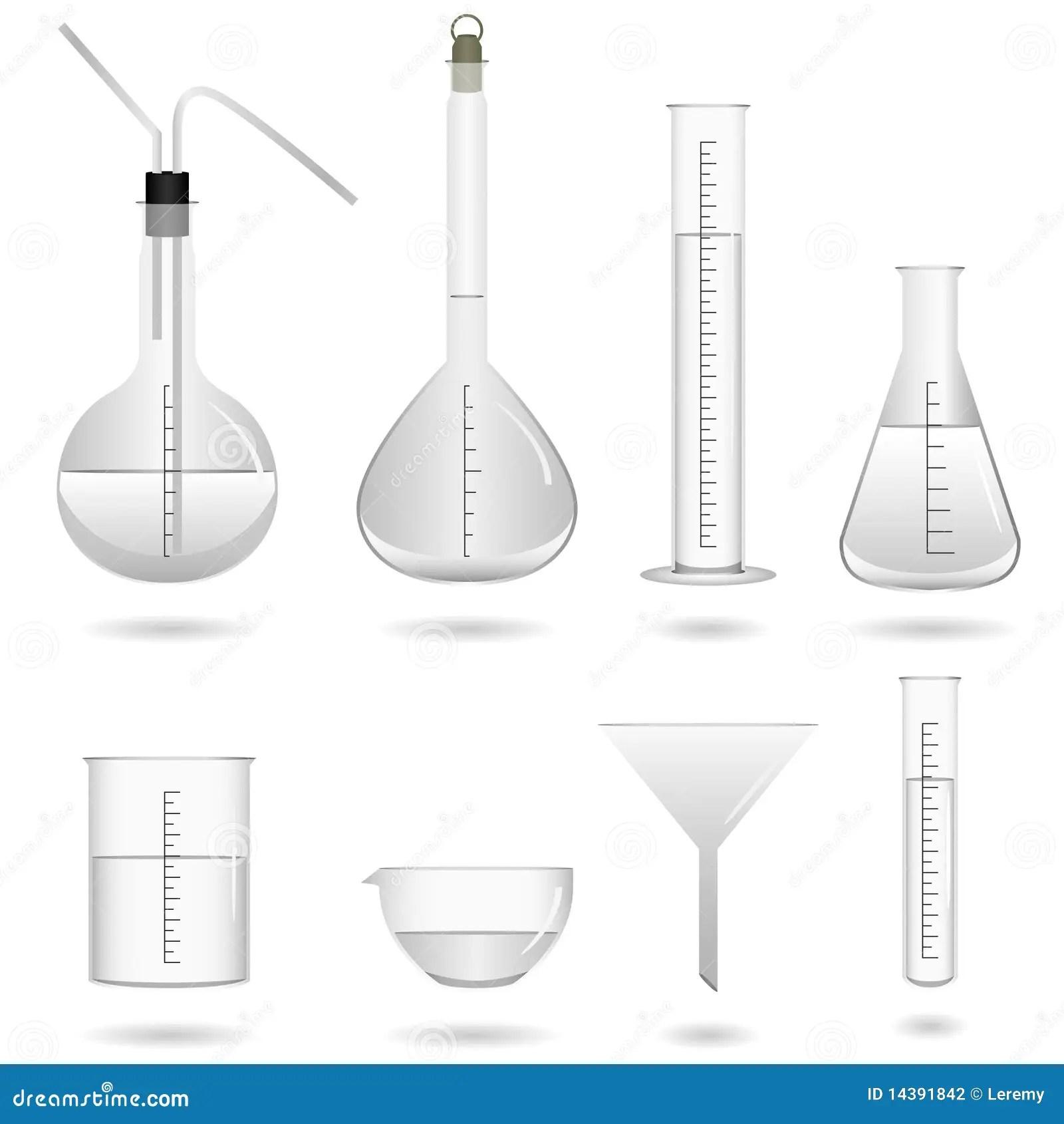Equipamento De Laboratorio Quimico Da Ciencia Ilustracao