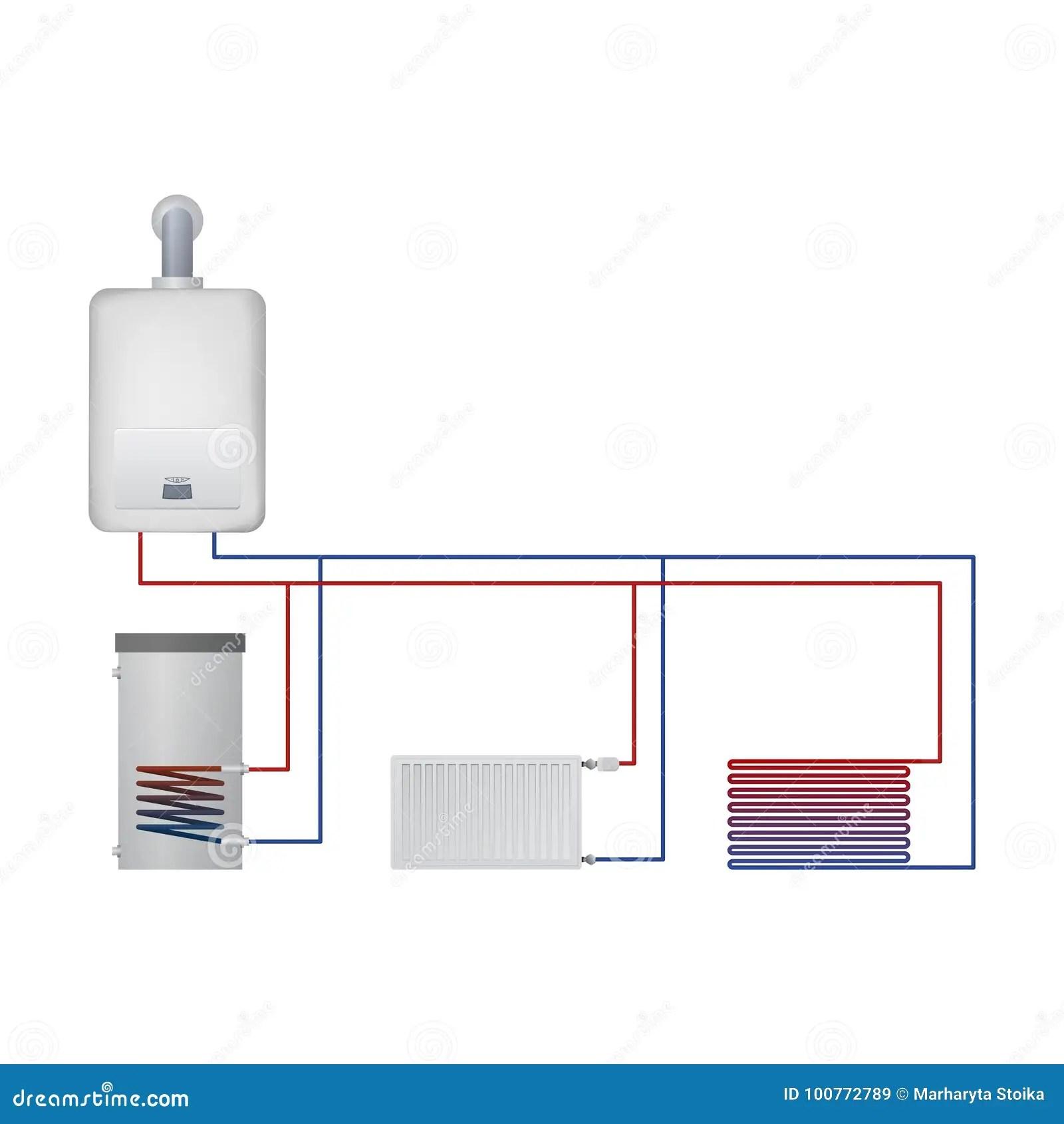 hight resolution of boiler hot water floor heating radiator
