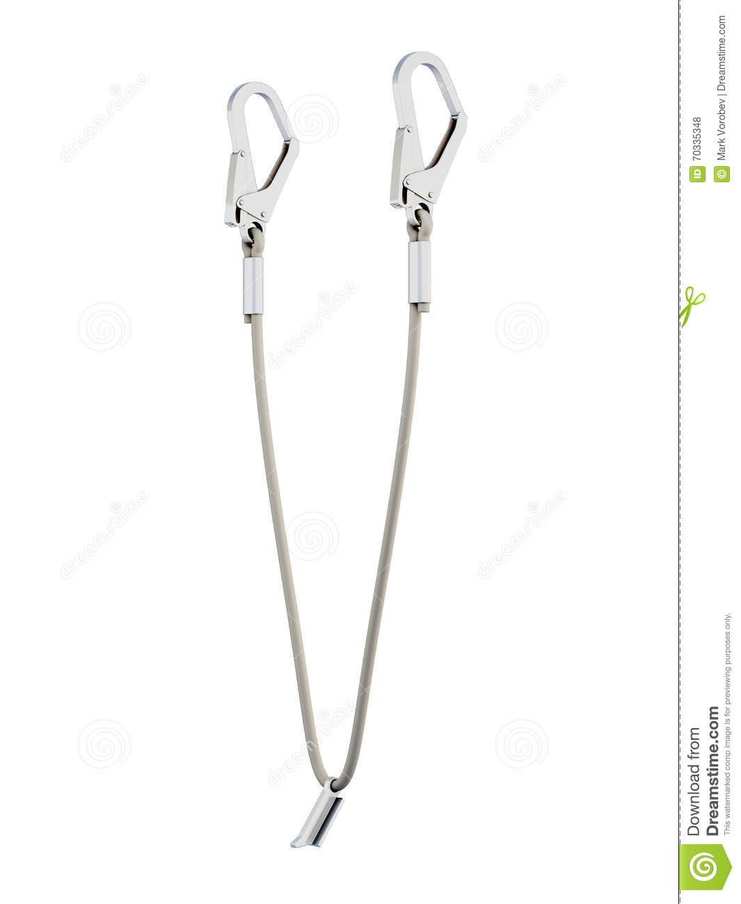 Harness For Safety Rock Climbing Royalty-Free Stock