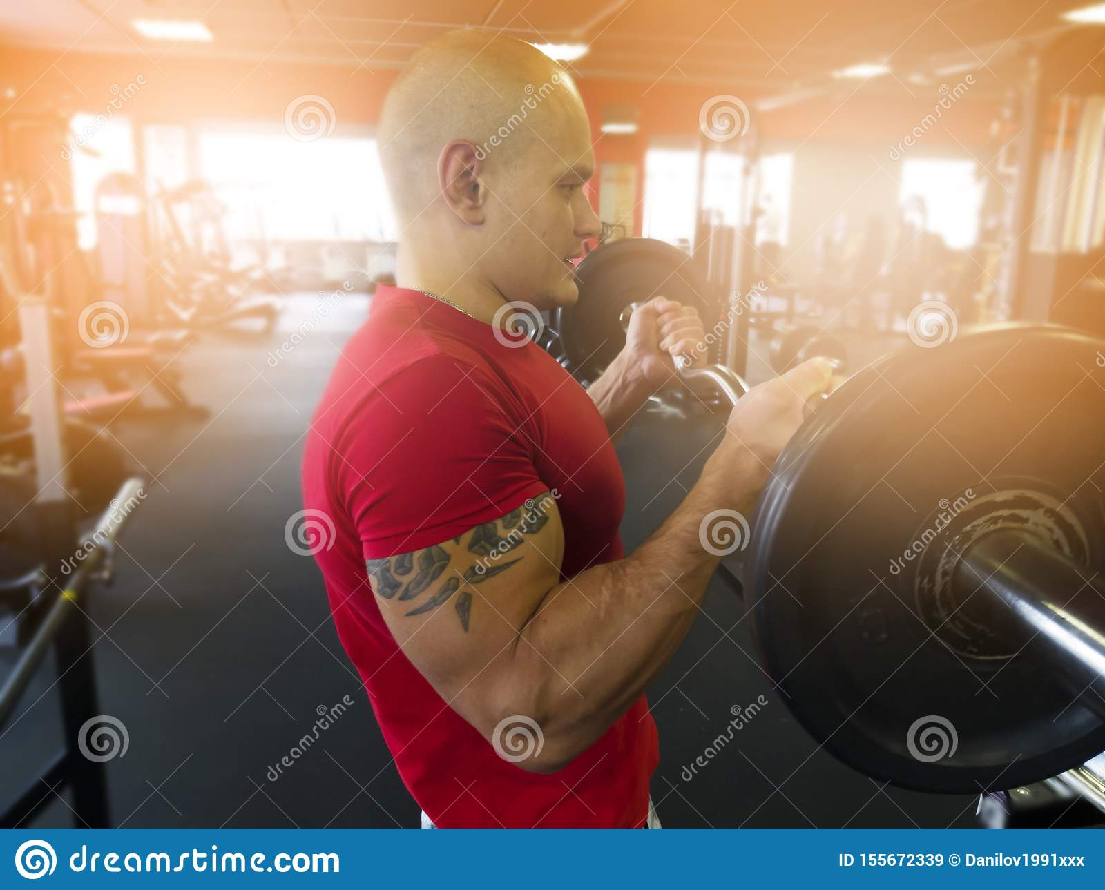 Equipment For Training In The Gym Stock Image Image Of Muscles Lifting 155672339