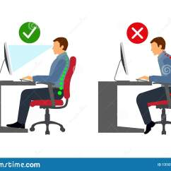 Posture Care Chair Company Prices Swivel Lounge Ergonomics At Workplace Man Correct Sitting Stock