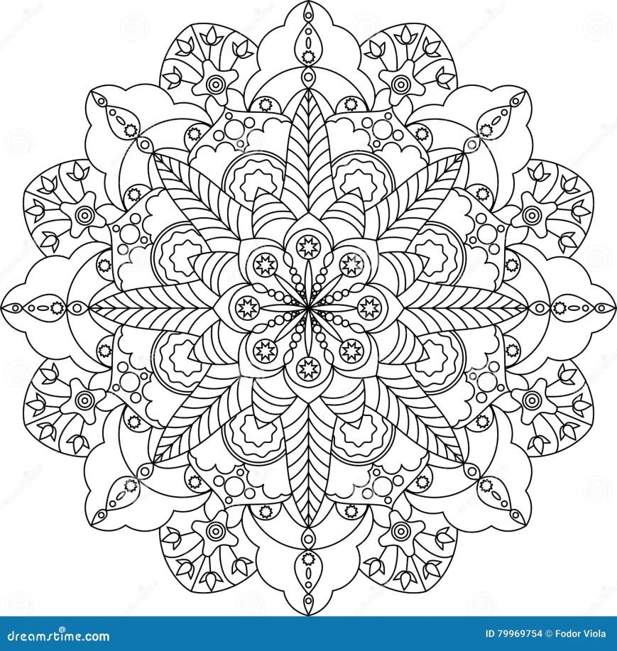 erwachsene farbtonseite zentangle mandala mit blumen