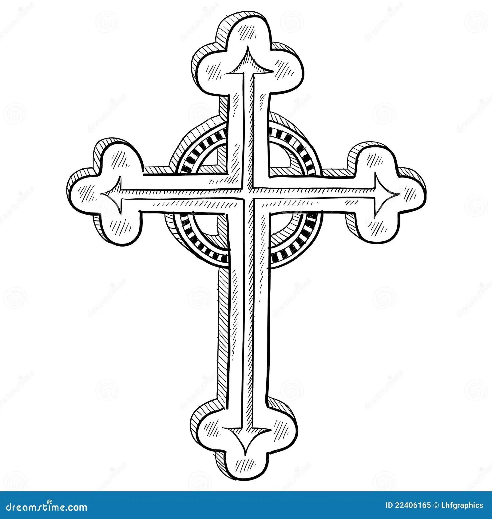 Esboco Transversal Ortodoxo Ilustracao Do Vetor