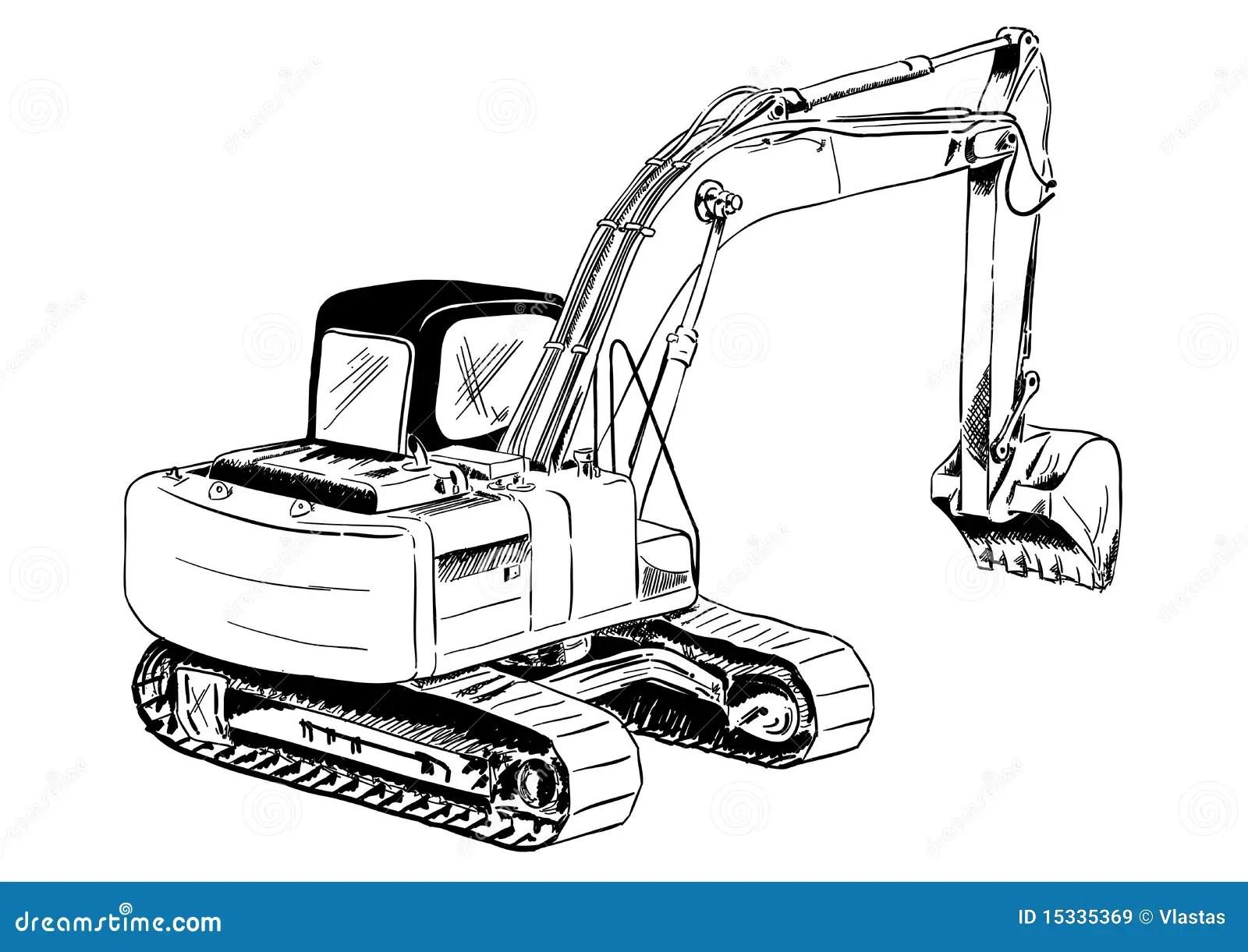 Escavatore Illustrazione Vettoriale Illustrazione Di