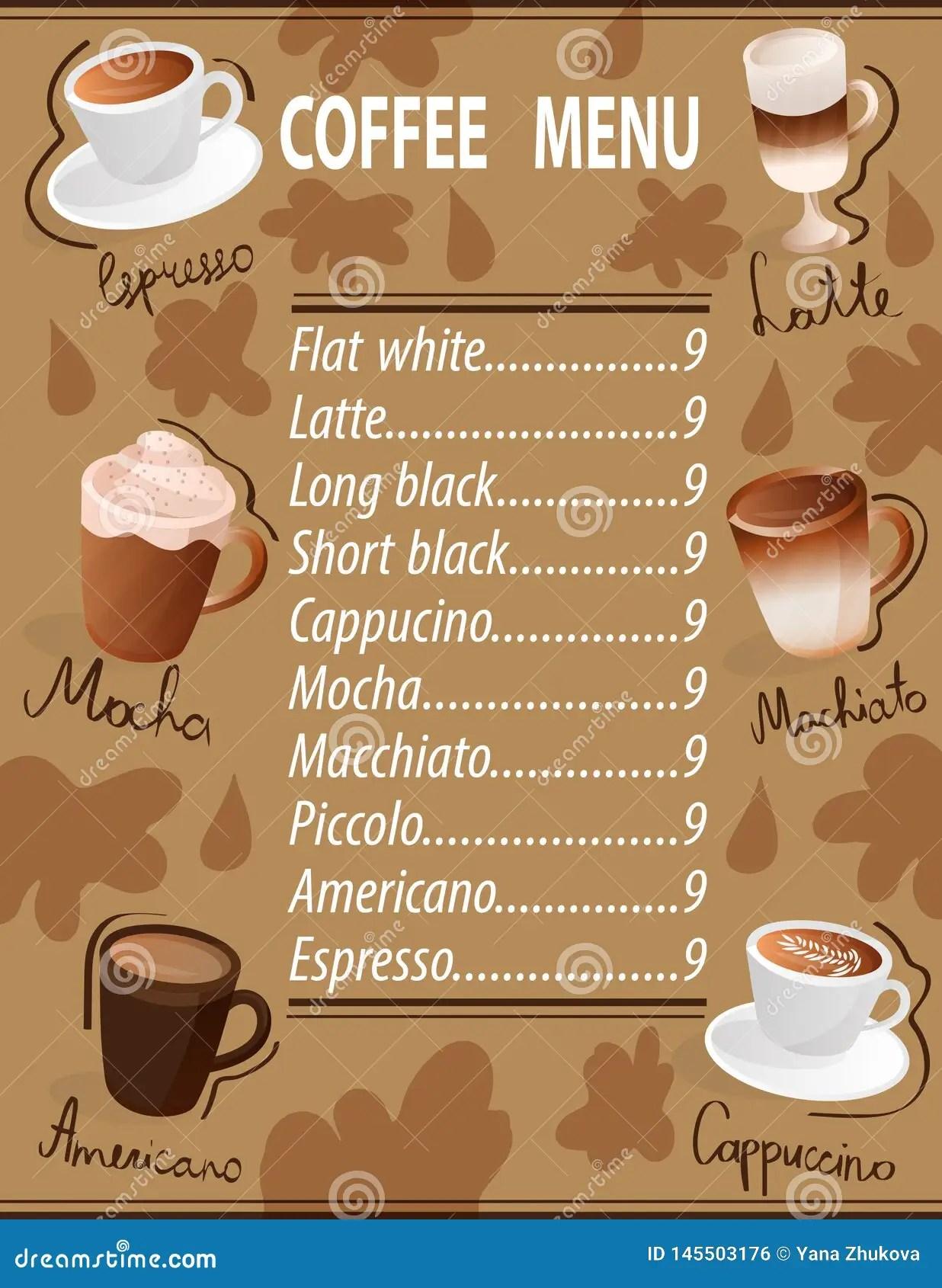 espresso machiato latte americano