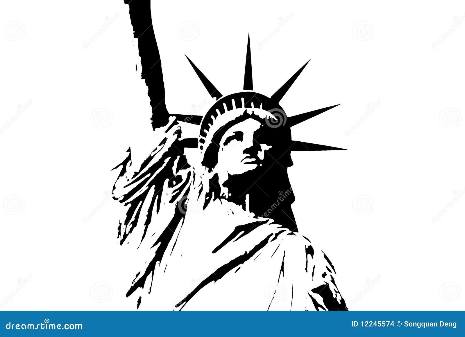 Estatua De New York City De La Libertad Stock De