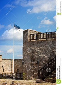 Estonia.narva. Ancient Fortress Stock - 30943921