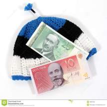 Estonian Currency Hat Royalty Free Stock