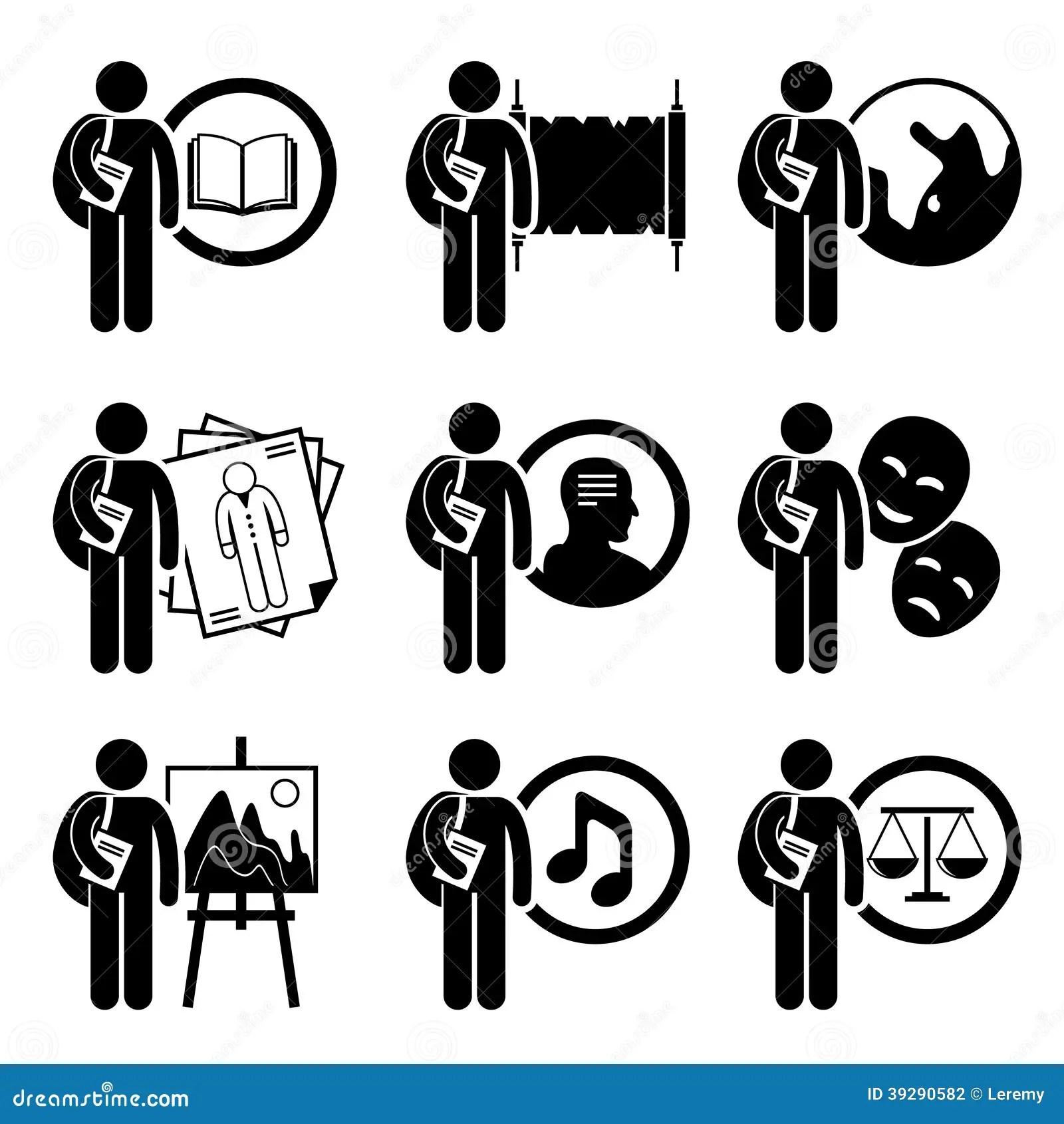 Estudiante Degree En Artes Y Humanidad Ilustracion Del