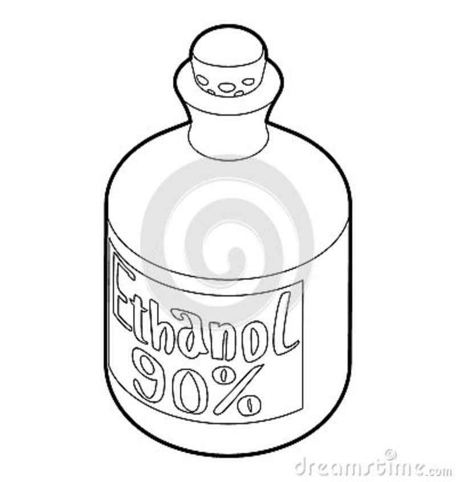 Plastic Bottle Icon, Outline Style Cartoon Vector