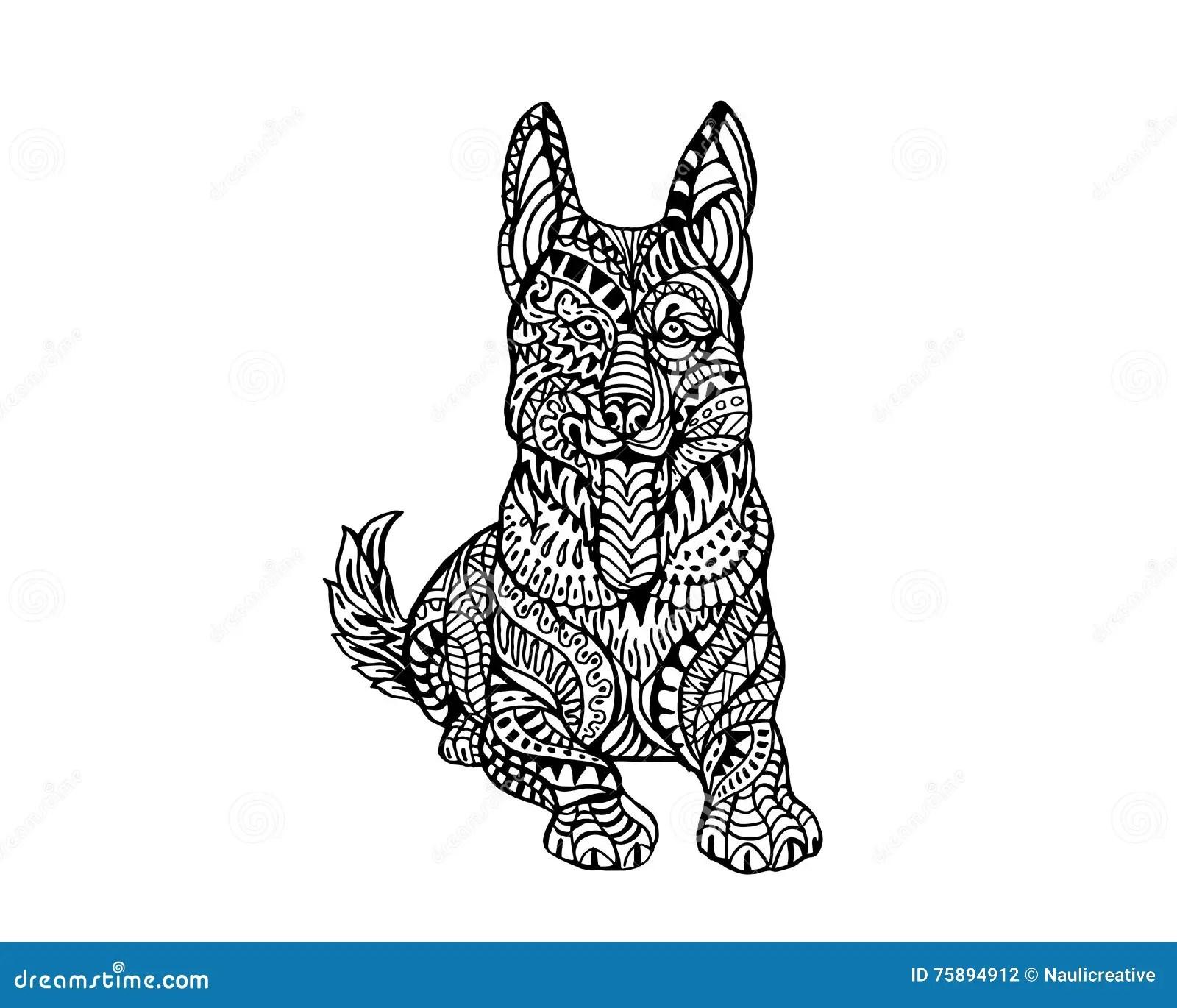 Ethnisches Tier Gekritzel Detail Muster