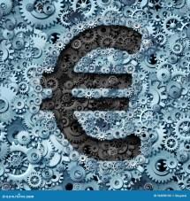 Euro Banking Industry Stock Illustration - 56898102