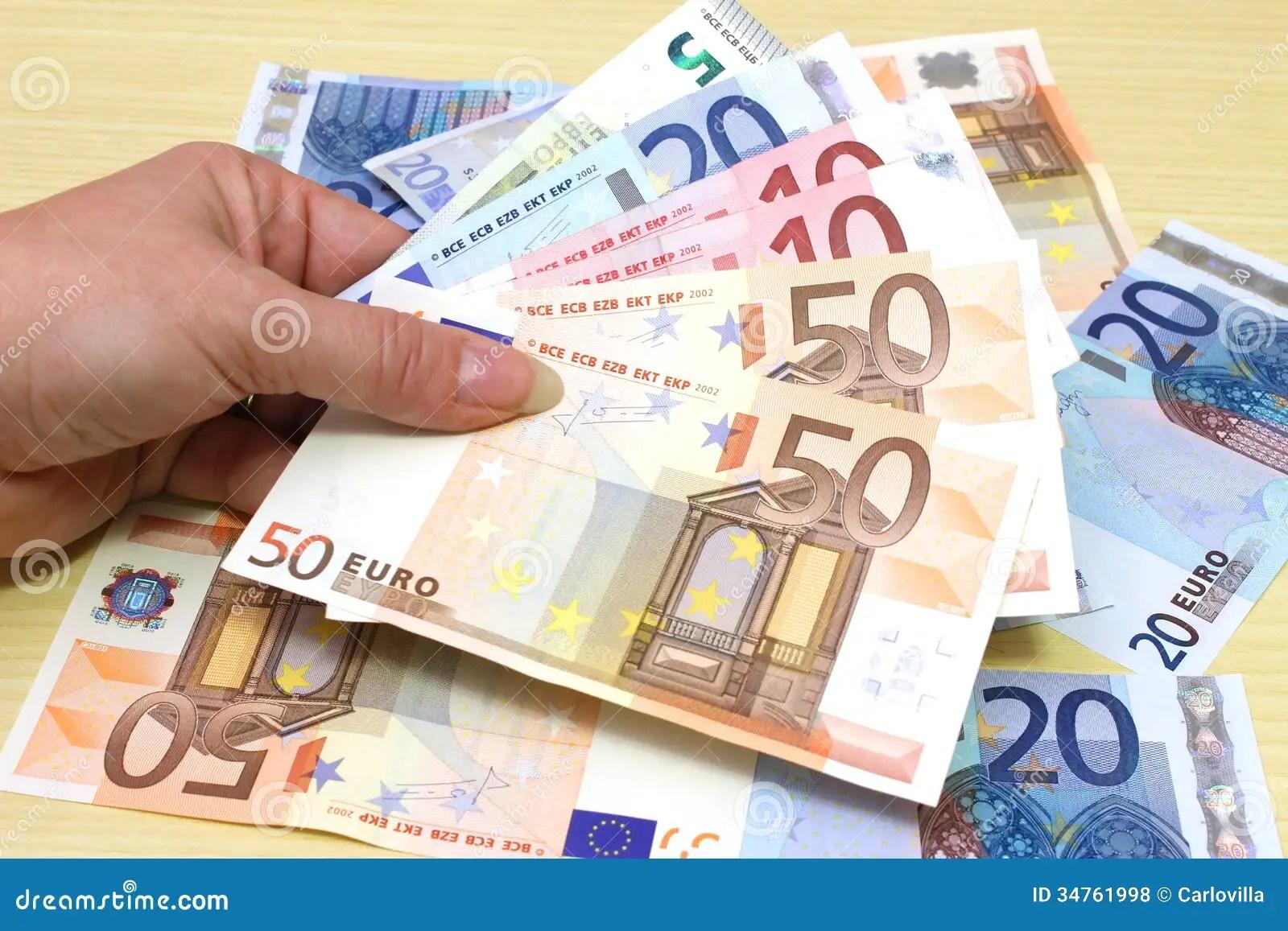 Euro Money Stock Photo Image Of Background Money Wealth