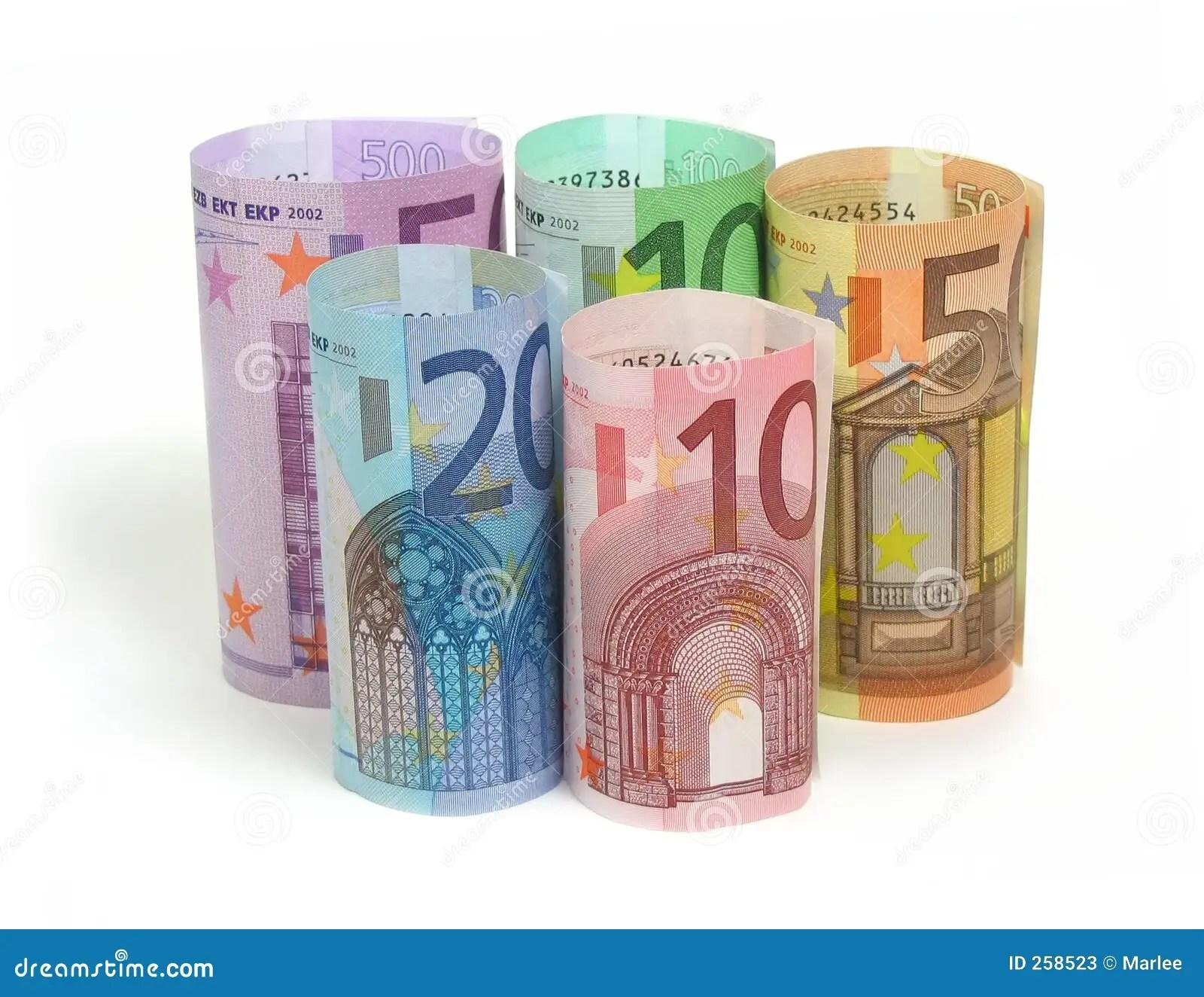 Euro Notas Fotos De Stock