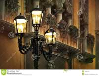 Europe Street Corner. Classic Street Lights. Stock Image ...