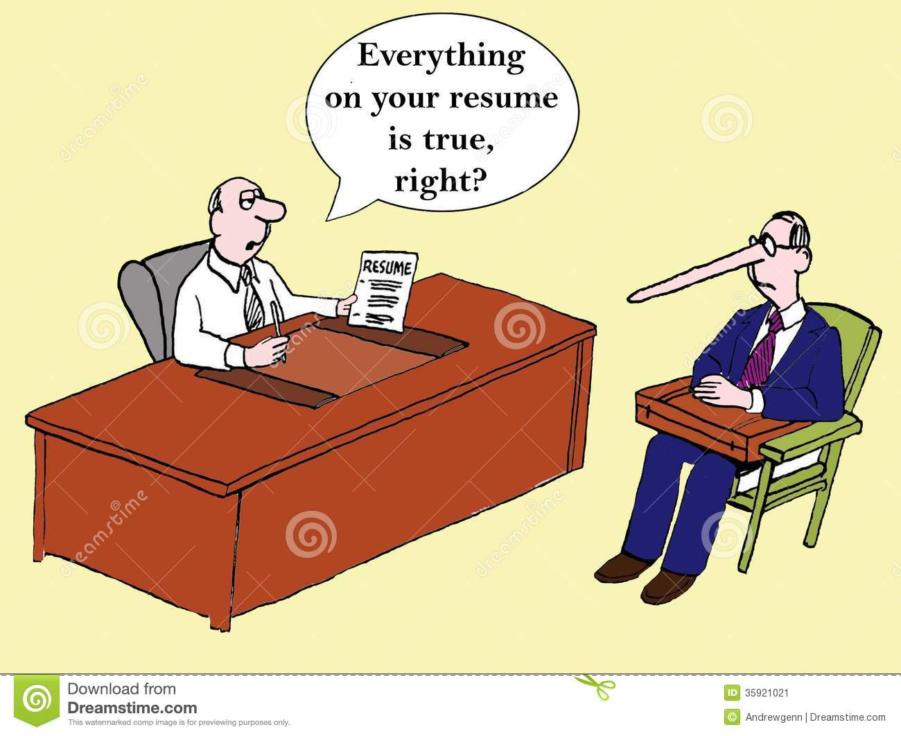 Everything On The Resume Is True Right Stock Illustration