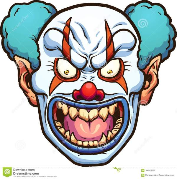 evil clown stock vector. illustration