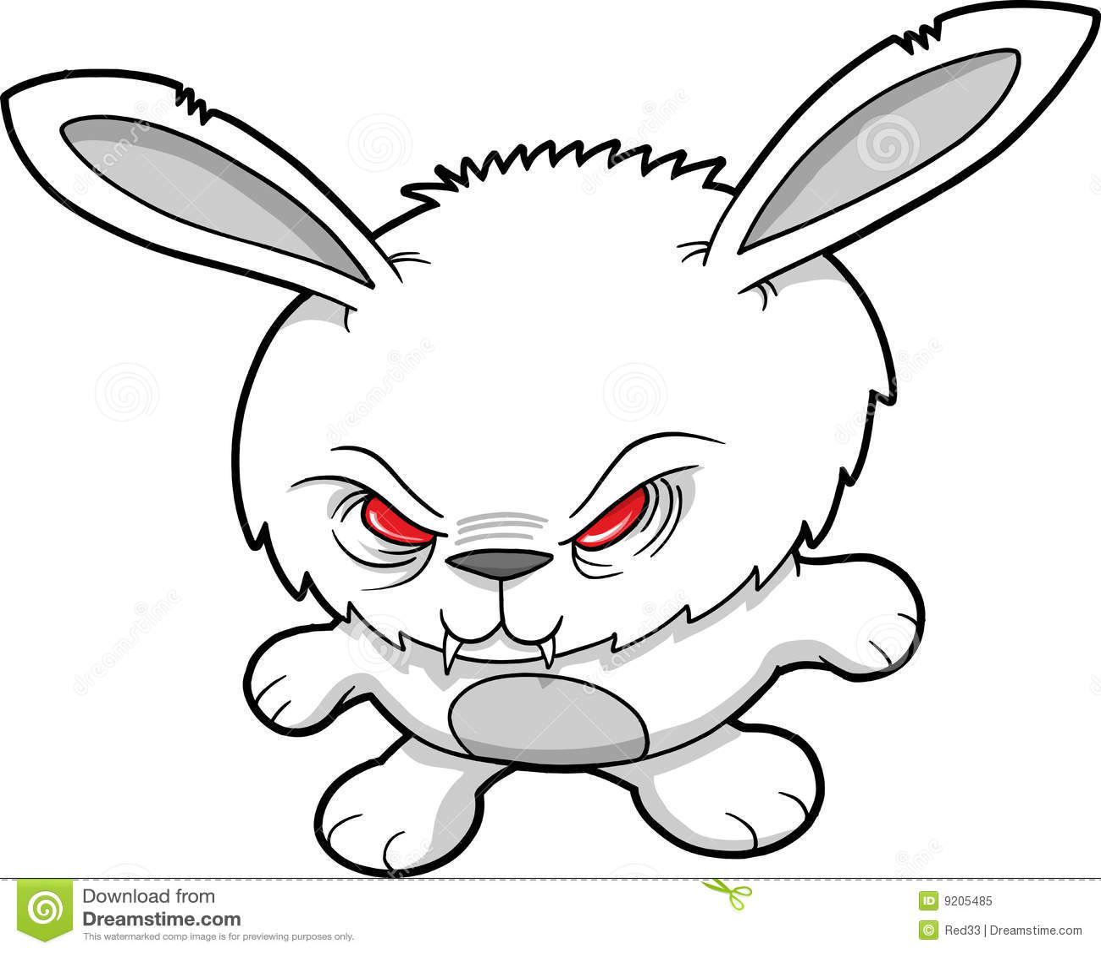 Evil Vampire Rabbit Vector Royalty Free Stock Photo