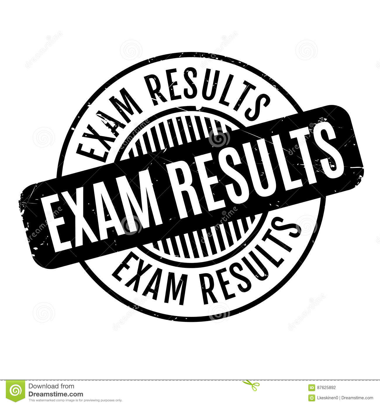 Exam Results rubber stamp stock vector. Image of backwash