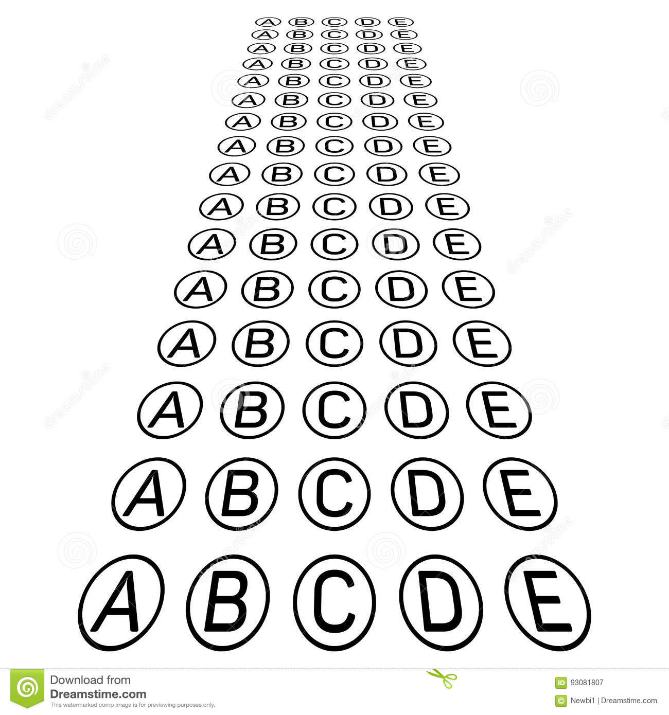 Examination Test Sheet. Education Concept Cartoon Vector