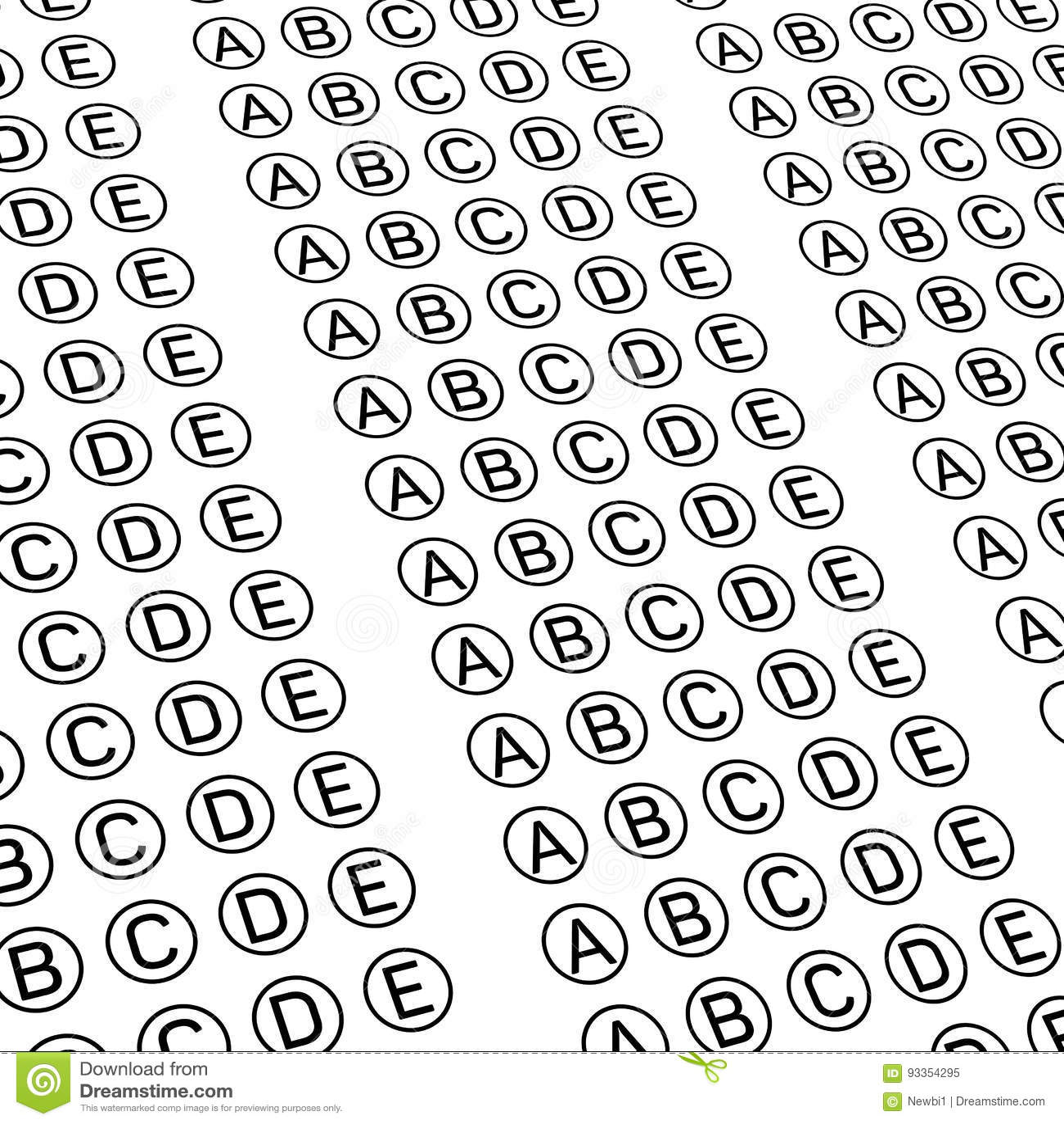 Examination Test Sheet. Education Concept Cartoon Vector