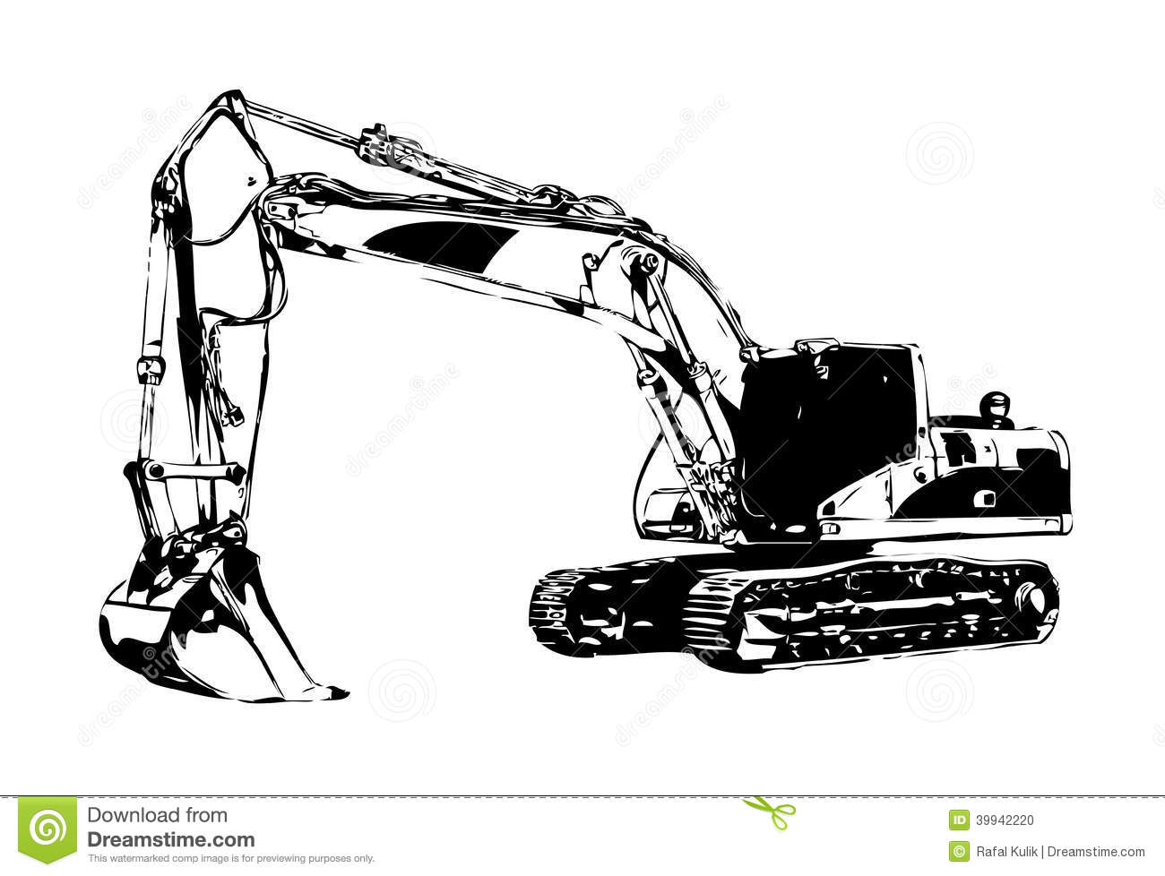 Excavator Drawing Pictures To Pin