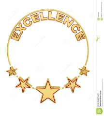 Excellence Award With Five Stars Royalty Free Stock